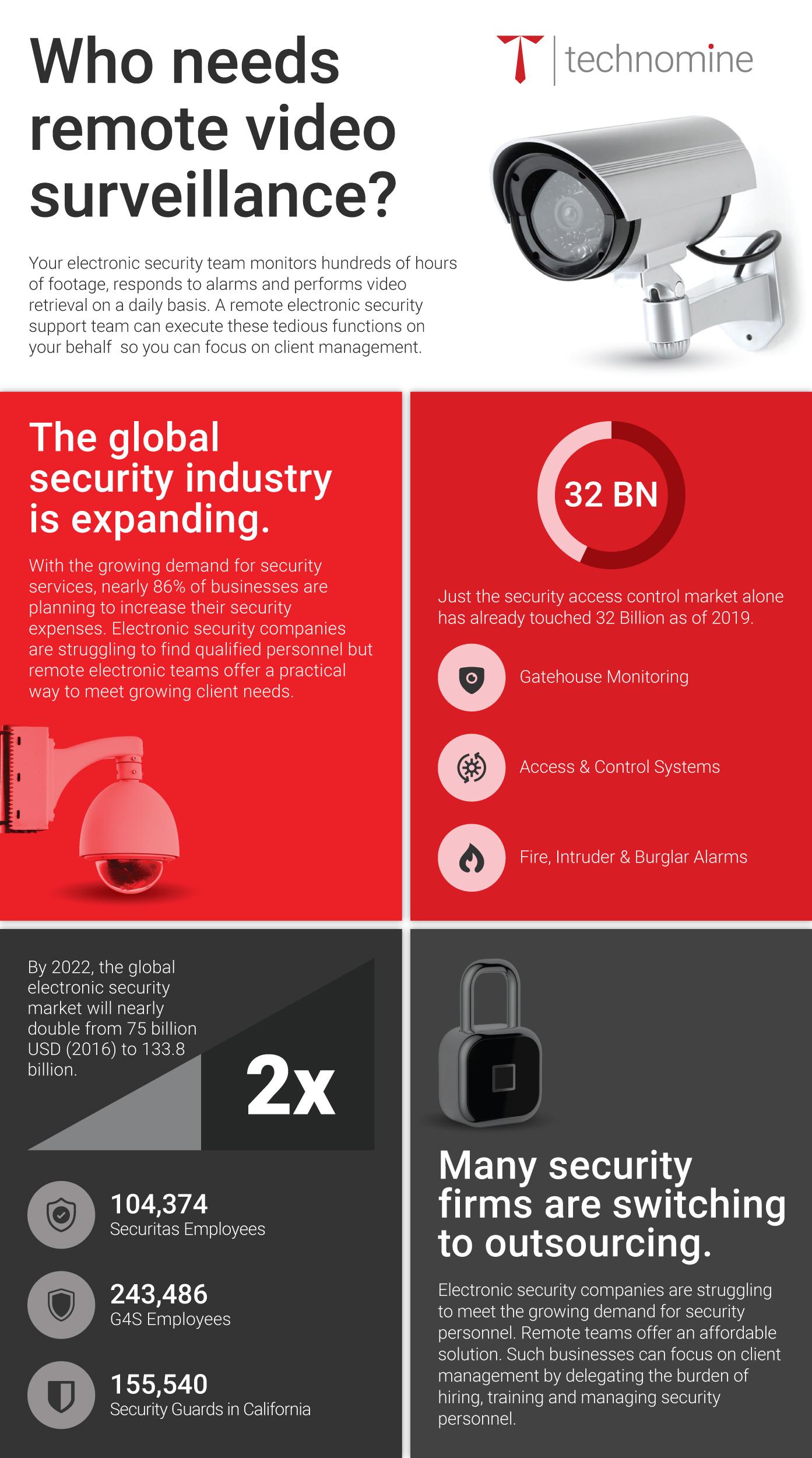 Remote video surveillance infographic