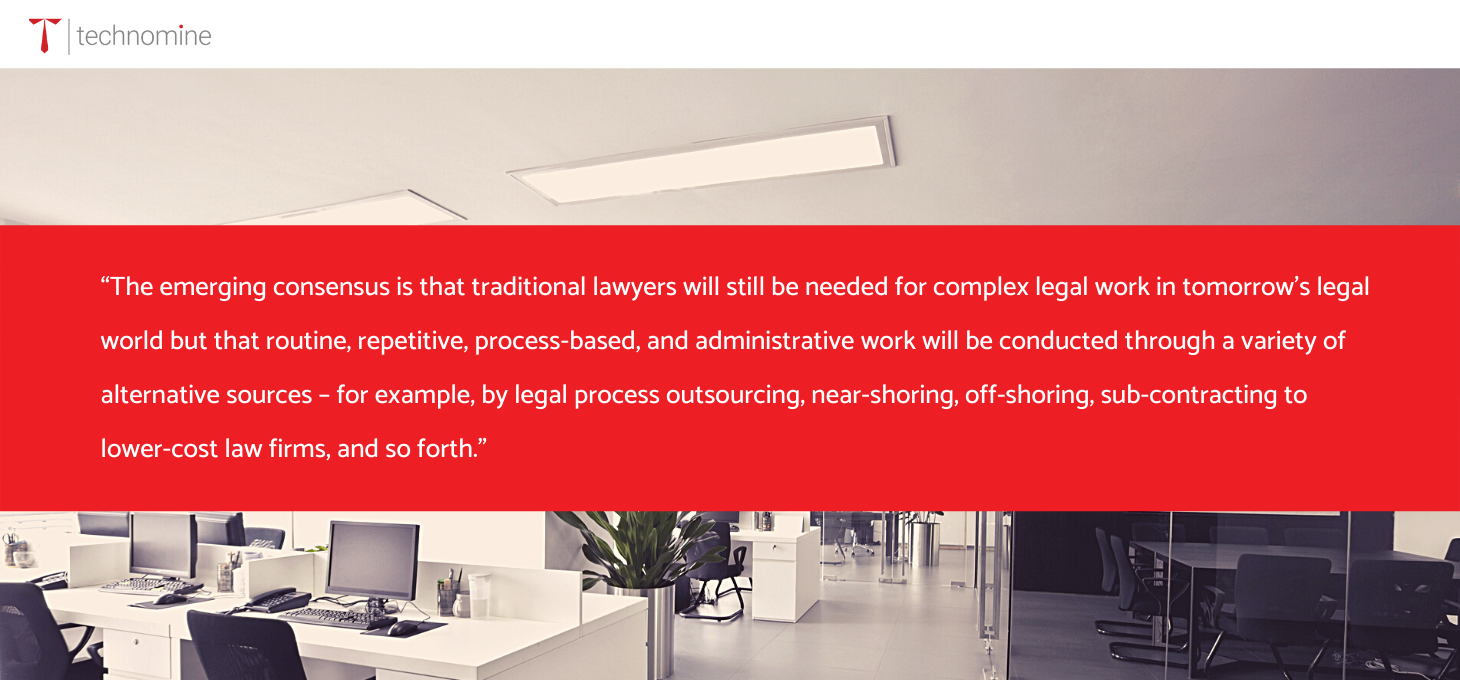 Implementing a corporate legal process outsourcing solution